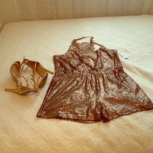 Pants - Sparkle and Shine Gold Romper
